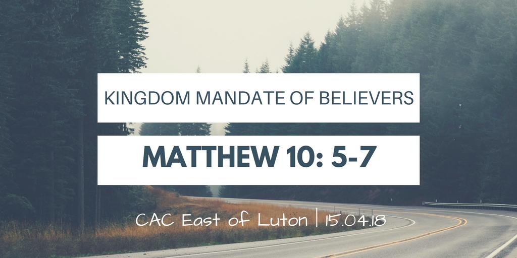 Kingdom mandate