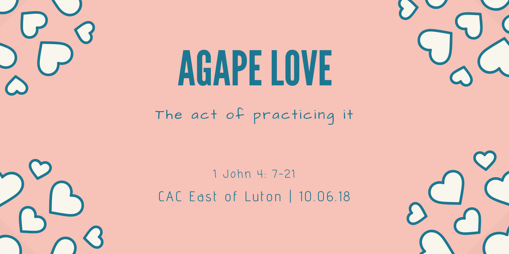Agape Love - The act of practicing it
