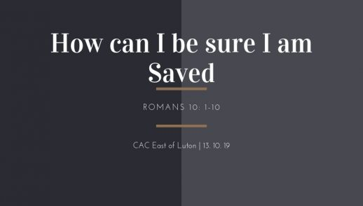 Be sure to be saved