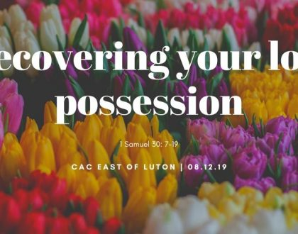 Recovering your lost possession