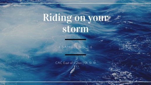 Ride on your storm