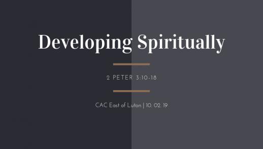 developing spiritually
