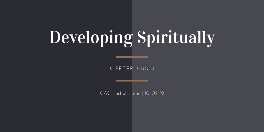 developing spiritually