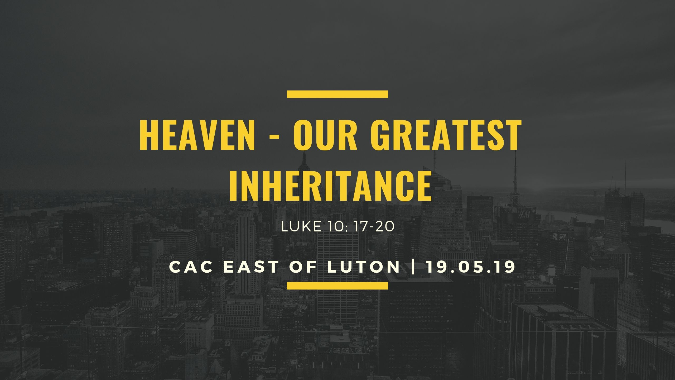 Our Heavenly Inheritance